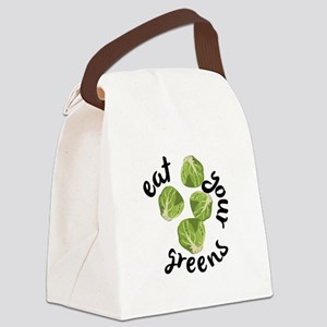 Eat Your Greens Canvas Lunch Bag