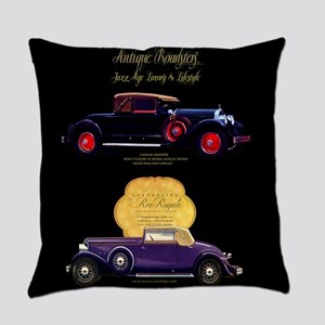 Art Deco Jazz Era Roadsters Everyday Pillow