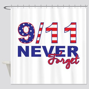 Never Forget 9/11 Shower Curtain