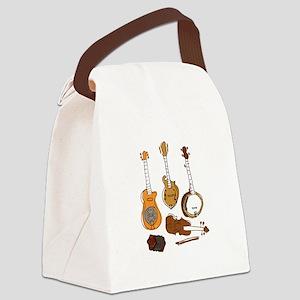 Folk Instruments Canvas Lunch Bag