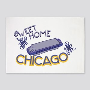Sweet Home Chicago 5'x7'Area Rug