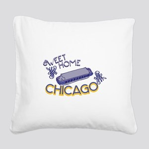 Sweet Home Chicago Square Canvas Pillow