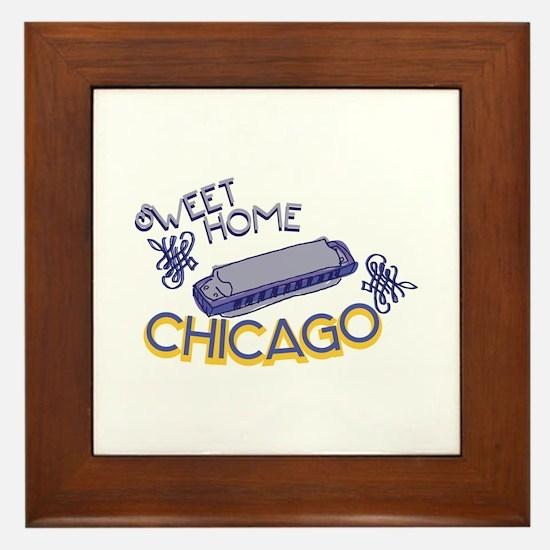 Sweet Home Chicago Framed Tile