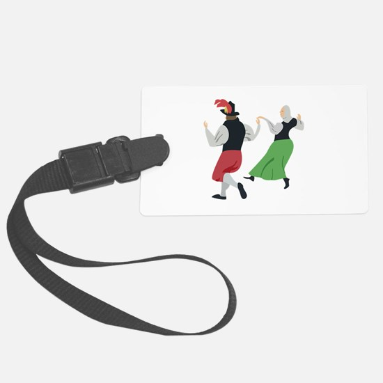 English Folk Dance Luggage Tag