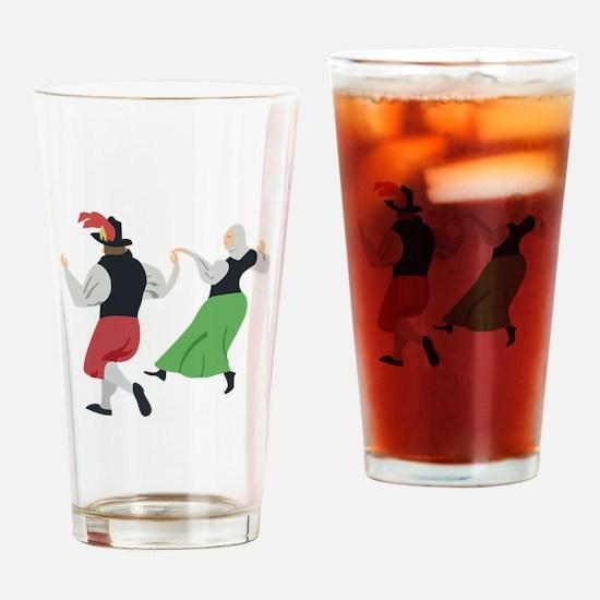 English Folk Dance Drinking Glass