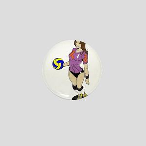 SEXY VOLLEY GIRL ORANGE RIBBON Mini Button