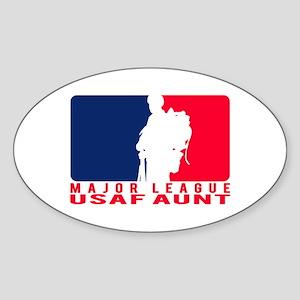 Major League Aunt - USAF Oval Sticker