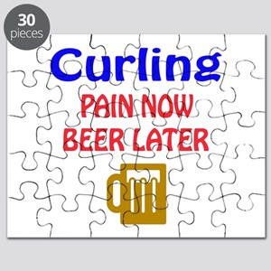 Curling Pain now Beer later Puzzle