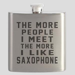 I Like More Saxophone Flask
