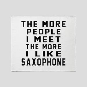 I Like More Saxophone Throw Blanket