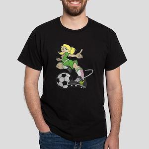 SOCCER GIRL PINK RIBBON T-Shirt