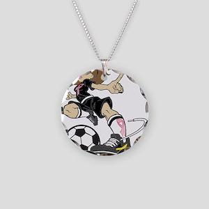 SOCCER GIRL PINK RIBBON Necklace