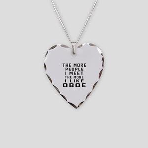 I Like More Oboe Necklace Heart Charm