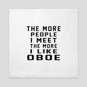 I Like More Oboe Queen Duvet