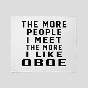 I Like More Oboe Throw Blanket