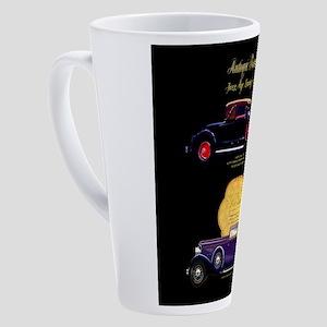 Art Deco Jazz Era Roadsters 17 oz Latte Mug