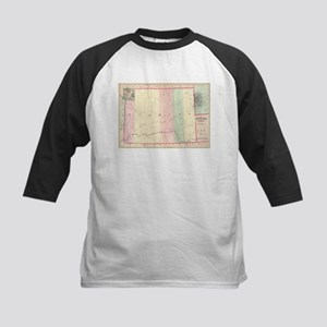 Vintage Map of Wyoming (1874) Baseball Jersey