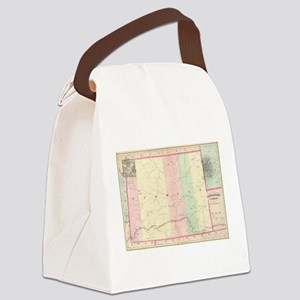 Vintage Map of Wyoming (1874) Canvas Lunch Bag