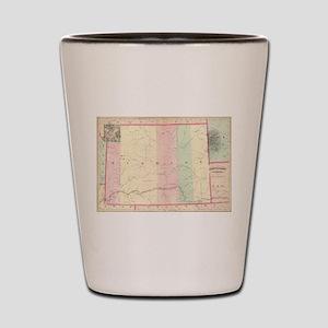 Vintage Map of Wyoming (1874) Shot Glass