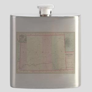 Vintage Map of Wyoming (1874) Flask