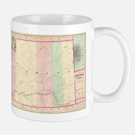 Vintage Map of Wyoming (1874) Mugs
