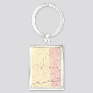 Vintage Map of Wyoming (1874) Keychains