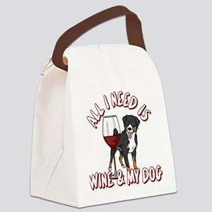 All I Need Is Wine & My Dog Canvas Lunch Bag