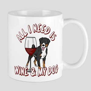 All I Need Is Wine & My Dog 11 oz Ceramic Mug