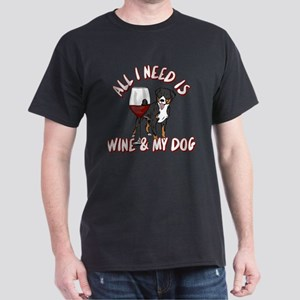 All I Need Is Wine & My Dog Dark T-Shirt