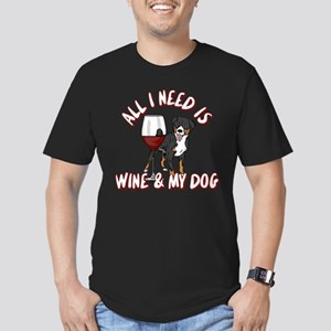 All I Need Is Wine & M Men's Fitted T-Shirt (dark)