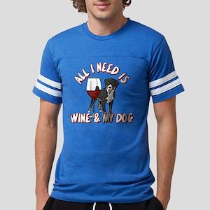 All I Need Is Wine & My Dog Mens Football Shirt
