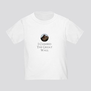 I Climbed The Great Wall Toddler T-Shirt