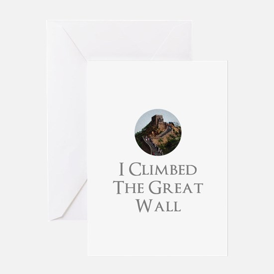 I Climbed The Great Wall Greeting Card
