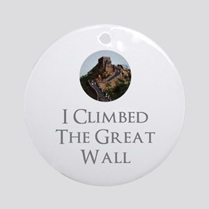 I Climbed The Great Wall Round Ornament