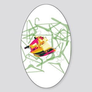 Clothes Iron Sticker (Oval)