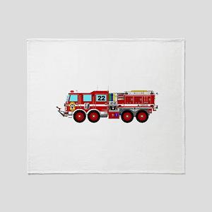 Fire Truck - Concept wild land fire Throw Blanket