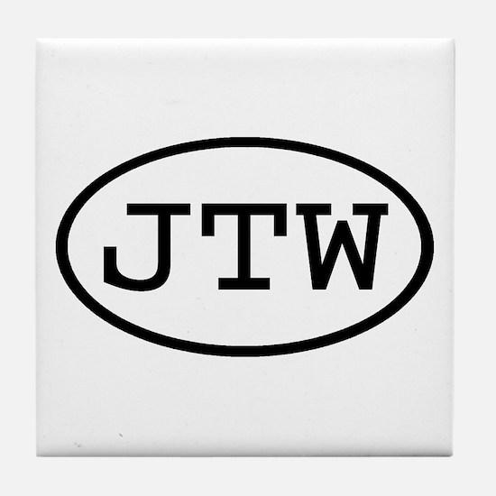 JTW Oval Tile Coaster