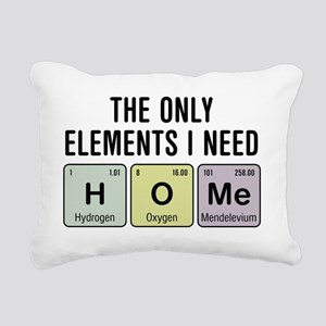 Home Chemistry Elements Rectangular Canvas Pillow