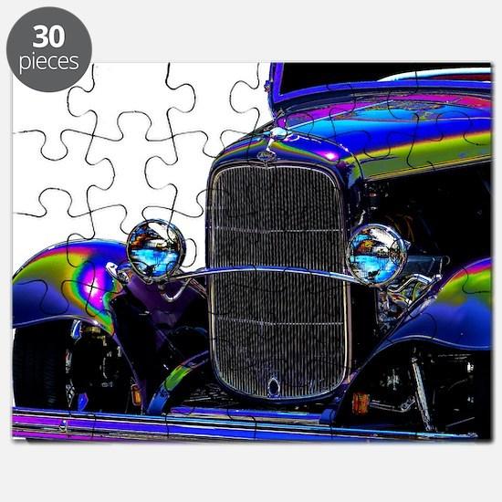 Classic Ford Hotrod - Vintage Auto Puzzle