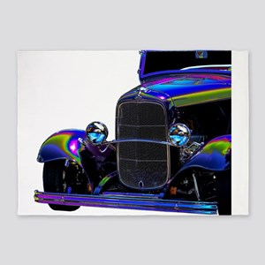 Classic Ford Hotrod - Vintage Auto 5'x7'Area Rug
