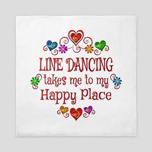 Line Dancing Happy Place Queen Duvet