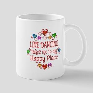 Line Dancing Happy Place Mug