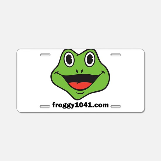 FROGGY 104 Aluminum License Plate