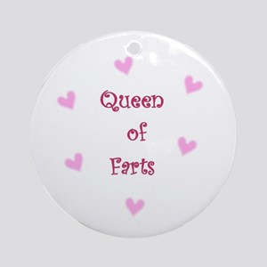 Queen of Hearts Queen of Farts Ornament (Round)