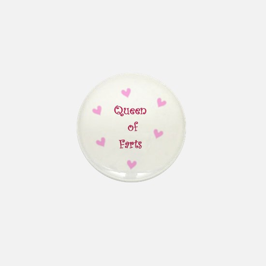 Queen of Hearts Queen of Farts Mini Button