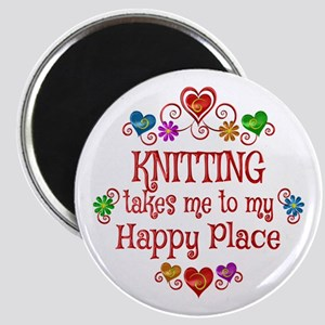 Knitting Happy Place Magnet