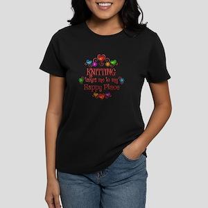 Knitting Happy Place Women's Dark T-Shirt