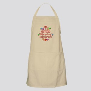 Knitting Happy Place Apron