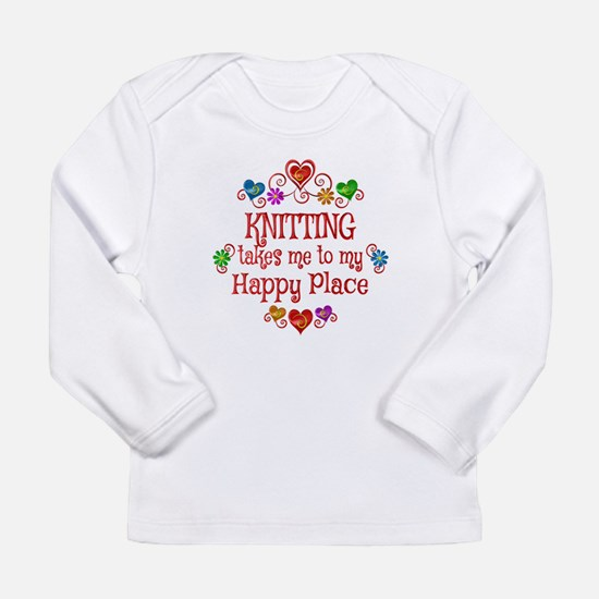 Knitting Happy Place Long Sleeve Infant T-Shirt