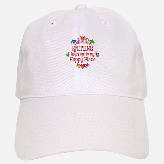Knitting Happy Place Baseball Baseball Cap